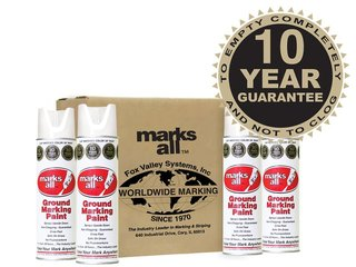 Fox Valley Marks All Ground Marking Paint - 12 x 500ml - White