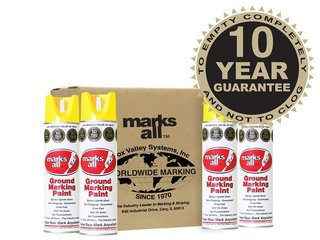 Fox Valley Marks All Ground Marking Paint - 12 x 500ml - Yellow