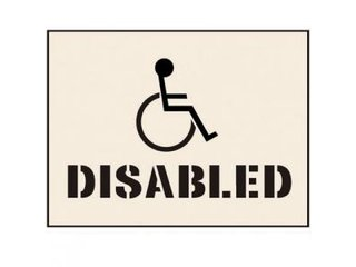 Stencil - DISABLED (190mm x 300mm - other sizes available)