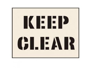 Stencil - KEEP CLEAR (190mm x 300mm - other sizes available)