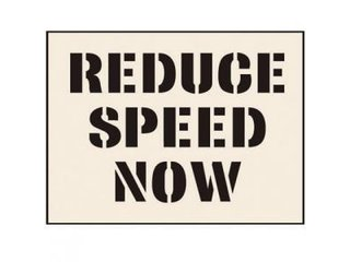 Stencil - REDUCE SPEED NOW (190mm x 300mm - other sizes available)