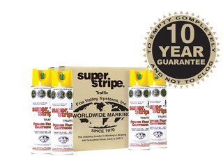 Fox Valley Super Stripe Line Marker Paint - 12 x 500ml - Yellow