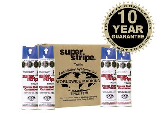 Fox Valley Super Stripe Line Marker Paint - 12 x 500ml - Blue