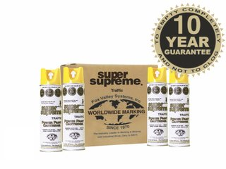 Fox Valley Super Supreme Line Marker Paint - 12 x 500ml - Yellow