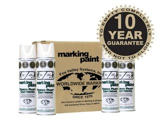 Fox Valley Easy Marker Line Marking Paint - 12 x 500ml - White