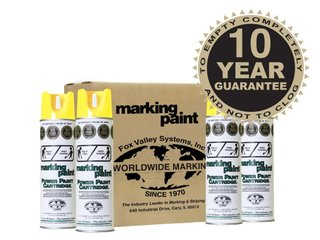 Fox Valley Easy Marker Line Marking Paint - 12 x 500ml - Yellow