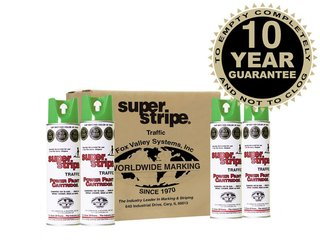 Fox Valley Super Stripe Line Marker Paint - 12 x 500ml - Green