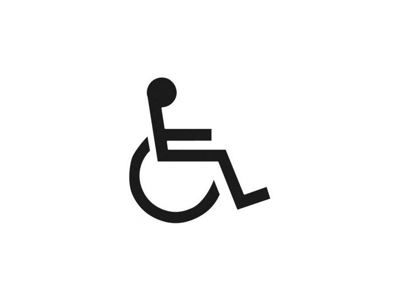 stencil disabled logo only 600mm x 800mm fox valley paint rh foxvalleypaint co uk disable logout windows 10 disable logoff