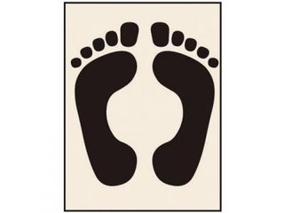 Stencil - FEET (190mm x 300mm - other sizes available)