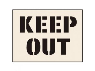 Stencil - KEEP OUT (190mm x 300mm - other sizes available)