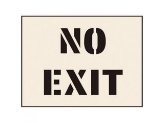 Stencil - NO EXIT (190mm x 300mm - other sizes available)