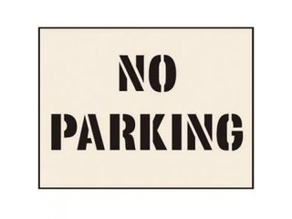 Stencil - NO PARKING (190mm x 300mm - other sizes available)