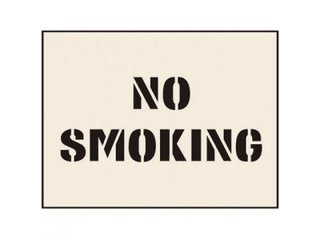 Stencil - NO SMOKING (190mm x 300mm - other sizes available)