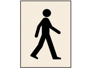 Stencil - WALKING MAN (190mm x 300mm - other sizes available)