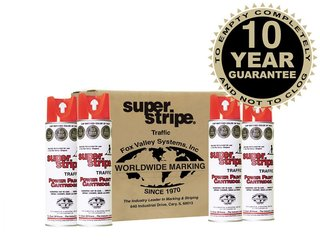 Fox Valley Super Stripe Line Marker Paint - 12 x 500ml - Red